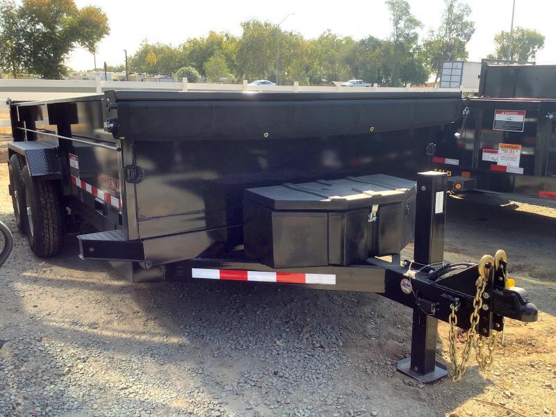 NEW 2022 Midsota HV-14 7' x 14' 15400 GVW Dump Trailer