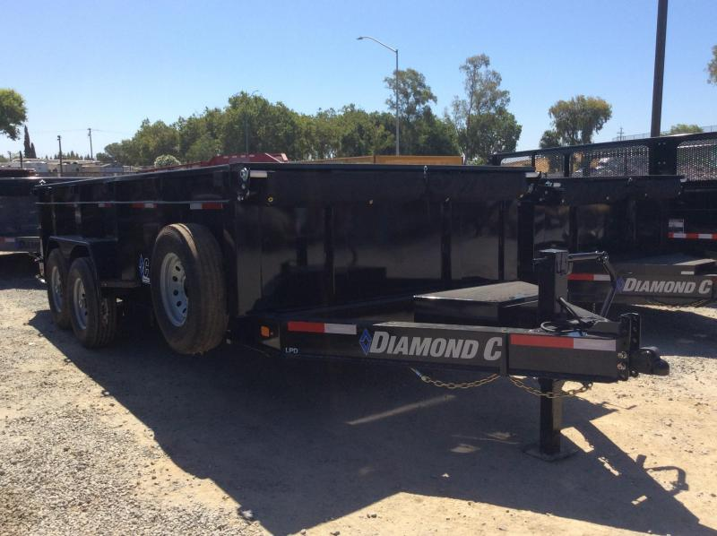 "NEW 2020 Diamond C Trailers Low Pro Dump LPD207L 16ft x82"" Dump Trailer"