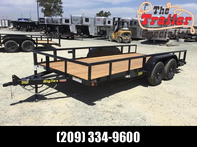 "NEW 2021 Big Tex Trailers 70PI-16 83""x16' 7000 GVW Utility Trailer"