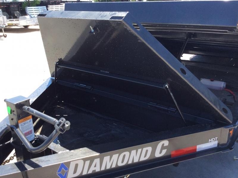 """NEW 2020 Diamond C Trailers Low Pro full deck Tilt HDT207 L18ft x 82"""" Equipment Trailer"""