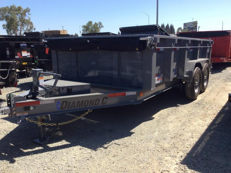 "NEW 2020 Diamond C Trailers Low pro dump LPD207L 14ft x 82"" Dump Trailer"