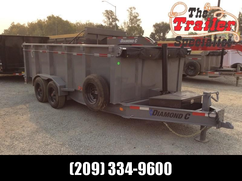 NEW 2021 Diamond C Trailers LPT208 16X81 Dump Trailer