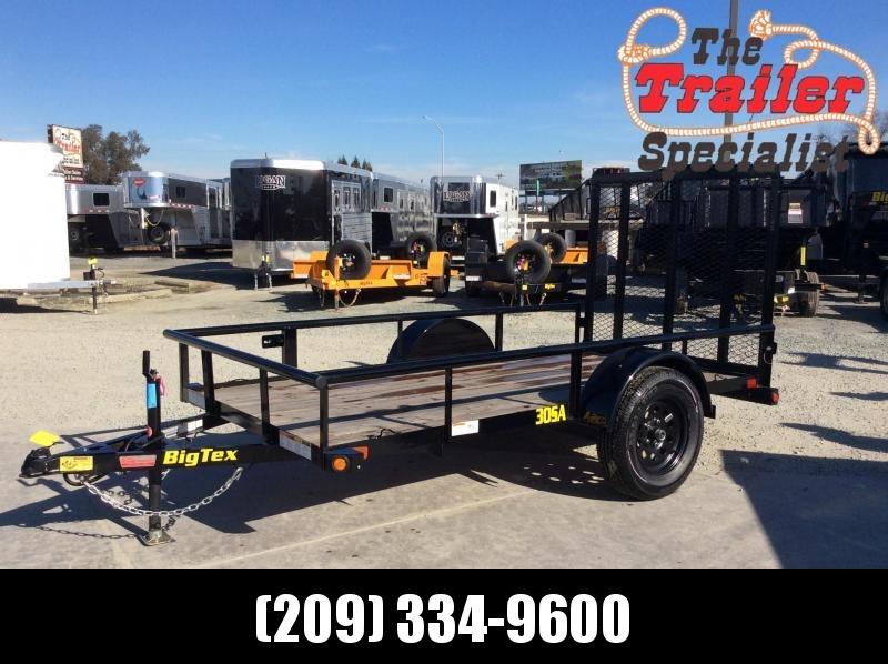 NEW 2021 Big Tex Trailers 30SA-10 5x10 2995K GVWR Utility Trailer