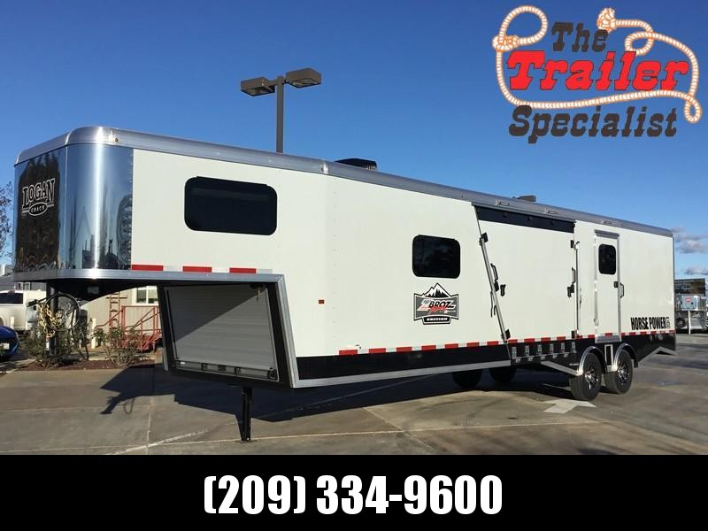 NEW 2019 Logan Coach Horse power 31ft GN ZBROZ package LQ Snowmobile Trailer