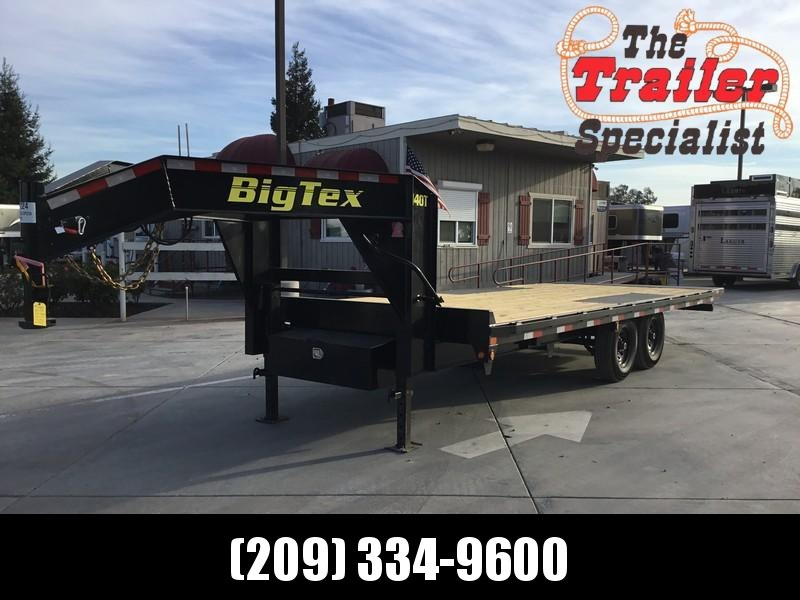 New 2021 Big Tex 14OT-22 8.5' x 22' 14k GVW Over-The-Axle Goosneeck Tilt Equipment Trailer