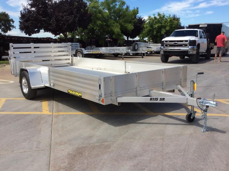 "2021 Aluma 8115S-R-BT-SR Utility Trailer 81""x15' Side Load"