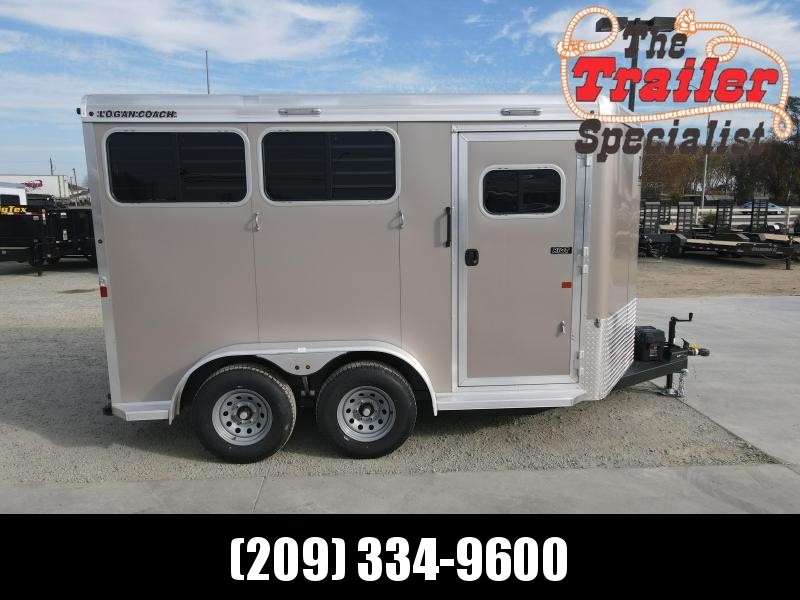NEW 2021 Logan Coach 2H Riot BP Horse Trailer