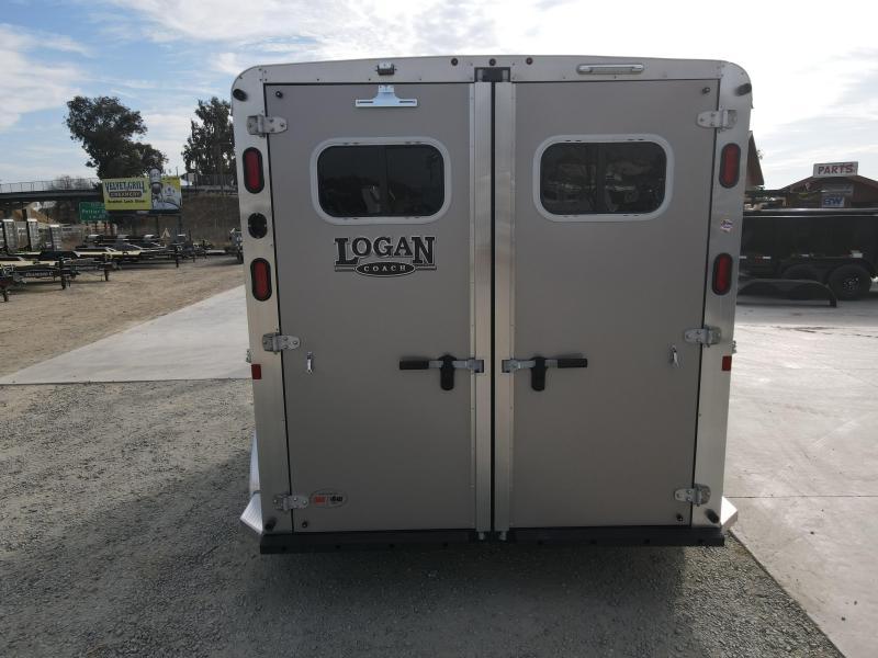 NEW 2021 Logan Coach 2H Riot BP Horse Trailer