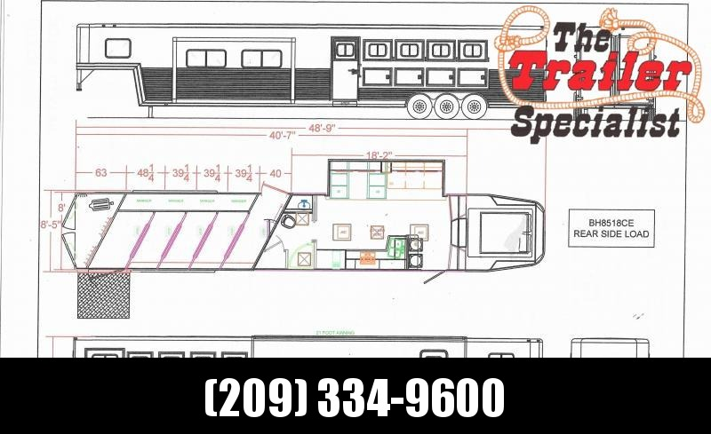 *ON ORDER* NEW 2021 Lakota BH8518TCE Bighorn 5 Horse 18' Living Quarters w/ Slideout Horse Trailer