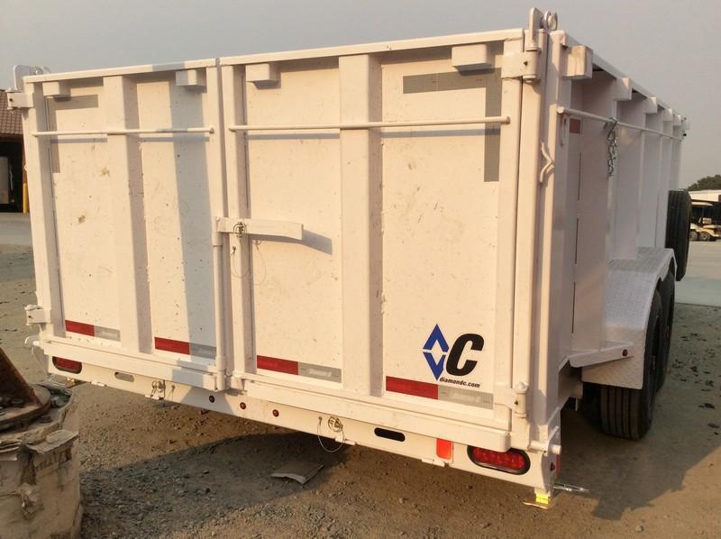 NEW 2021 Diamond C 7'x 16' 18k gvwr LPT208 Dump Trailer