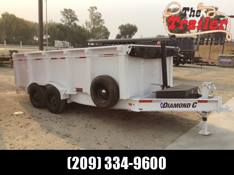 NEW 2021 Diamond C 7'x 16' 18k gvwr LPT208 Dump Trailer
