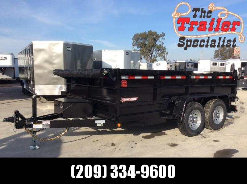 NEW 2021 Five Star DT277 7x12 10k GVWR Dump Trailer