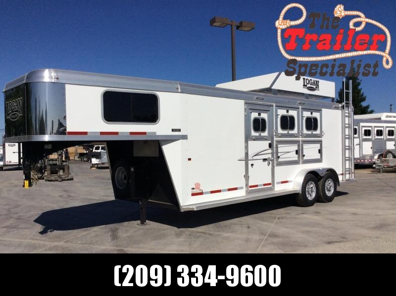 NEW 2020 Logan Coach 3H Edge GN Horse Trailer
