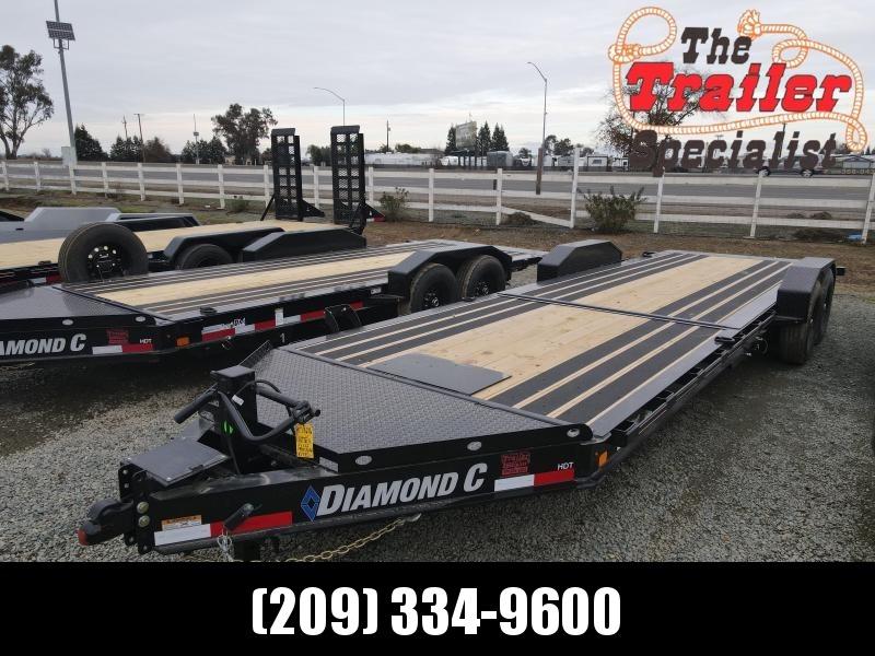 "NEW 2021 Diamond C Trailers HDT207-L 24' x 82"" 14900 GVWR Equipment Trailer"