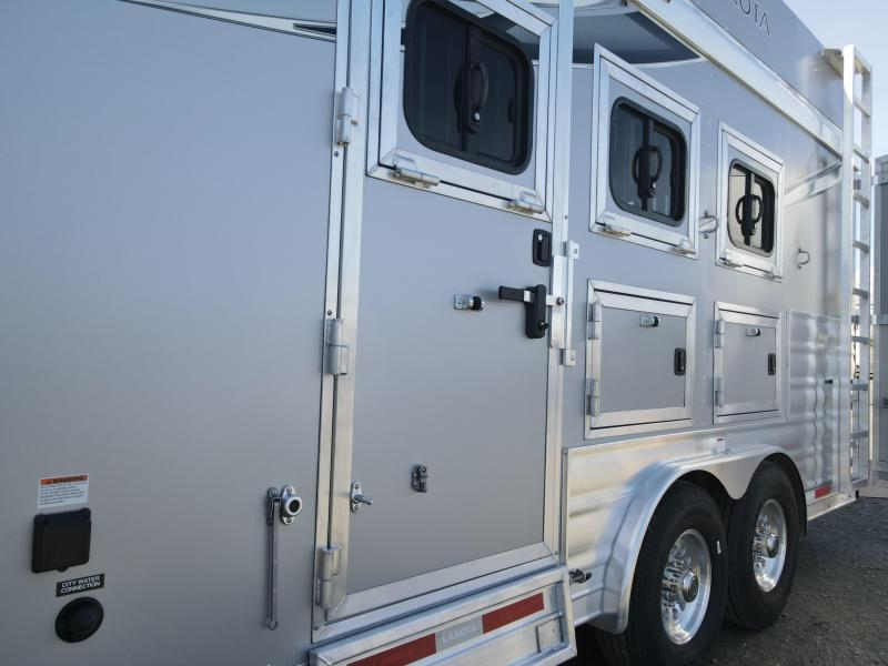 NEW 2021 Lakota C8313SR Charger 3 Horse 8' Wide 13' Living Quarters with Slideout Horse Trailer