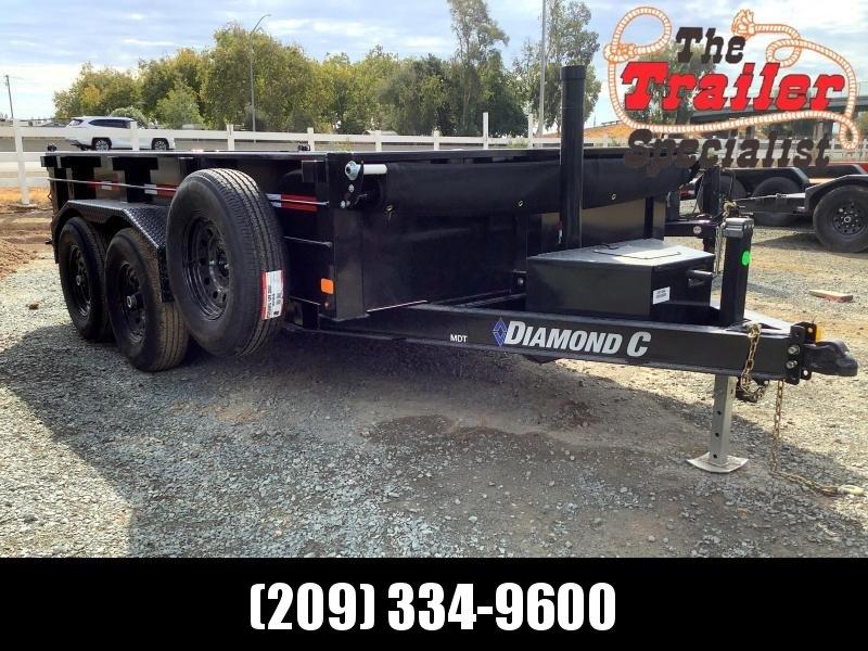 "NEW 2022 Diamond C Trailers MDT206L 77"" x 12' Dump Trailer"