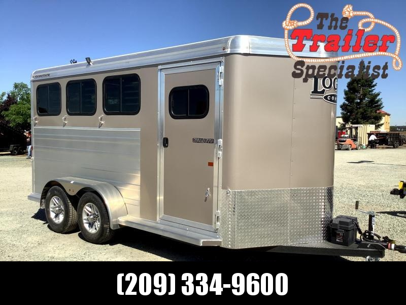 NEW 2022 Logan Coach 3H Bullseye Horse Trailer
