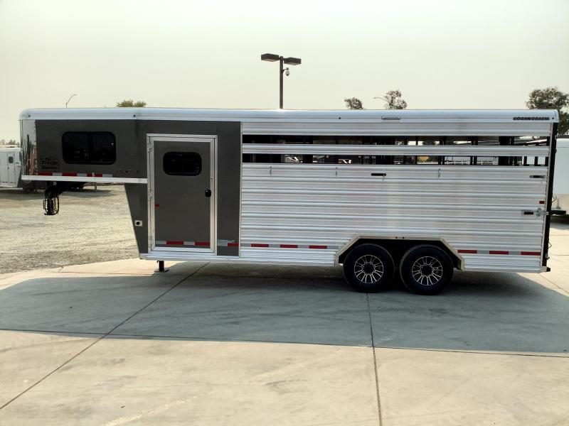NEW 2022 Logan Coach Stock Combo 20' GN Livestock Trailer