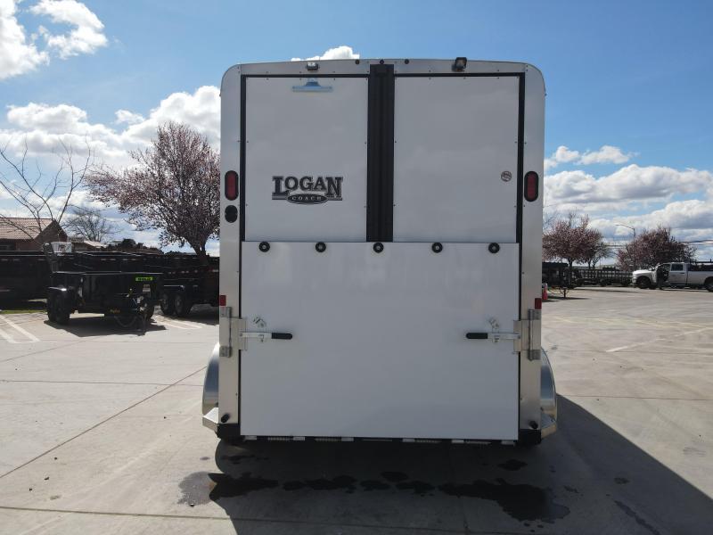 NEW 2021 Logan Coach Bullseye Straightload 2 Horse Horse Trailer