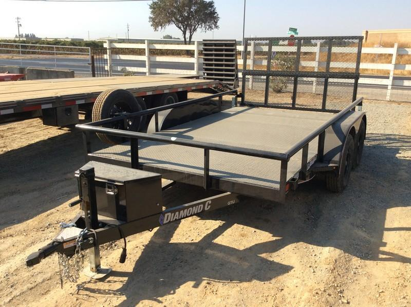 NEW 2021 Diamond C Trailers 7x12 7k GVWR GTU Utility Trailer