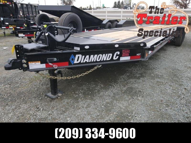 "NEW 2021 Diamond C Trailers HDT207-L 24' X 82"" Equipment Trailer"