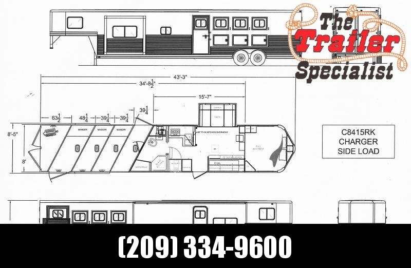 *ON ORDER* NEW 2021 Lakota C8415RK Charger 4 Horse 15' Living Quarters with Slideout Horse Trailer