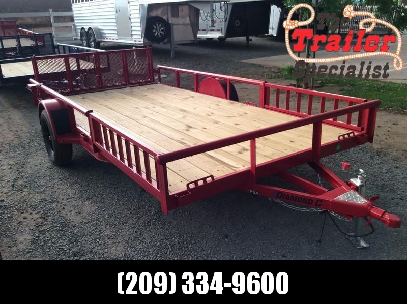 NEW 2021 Diamond C Trailers 7' x 14' PSA135 Utility Trailer