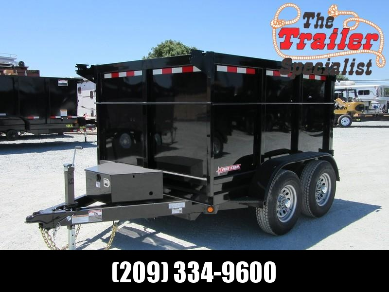 New 2021 Five Star DT294 D10 6x8 10K 4' sides Dump Trailer