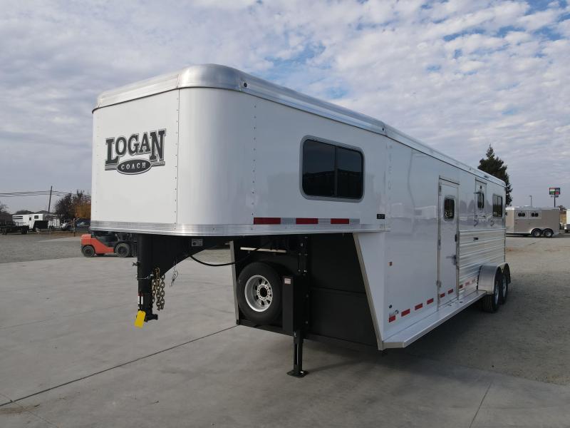 NEW 2021 Logan Coach Riot 2+1H GN Horse Trailer