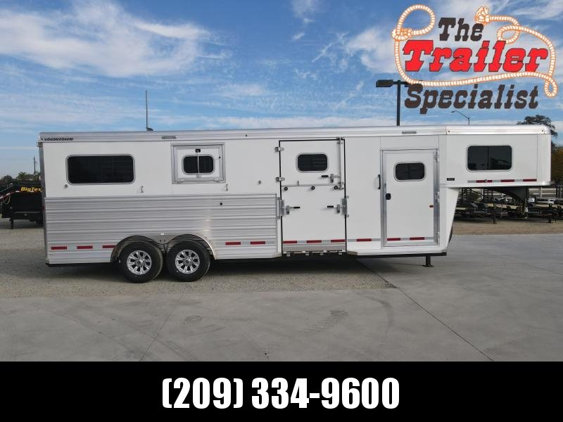NEW 2021 Logan Coach Riot 2+1H GN Horse Trailer