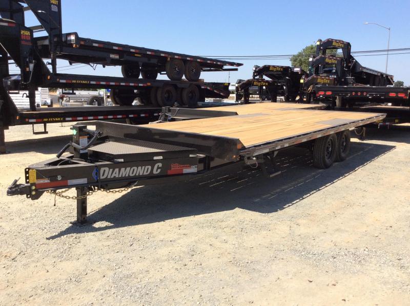 """NEW 2020 Diamond C Trailers DET207 L24' x 102"""" Deck Over Tilt Equipment Trailer"""