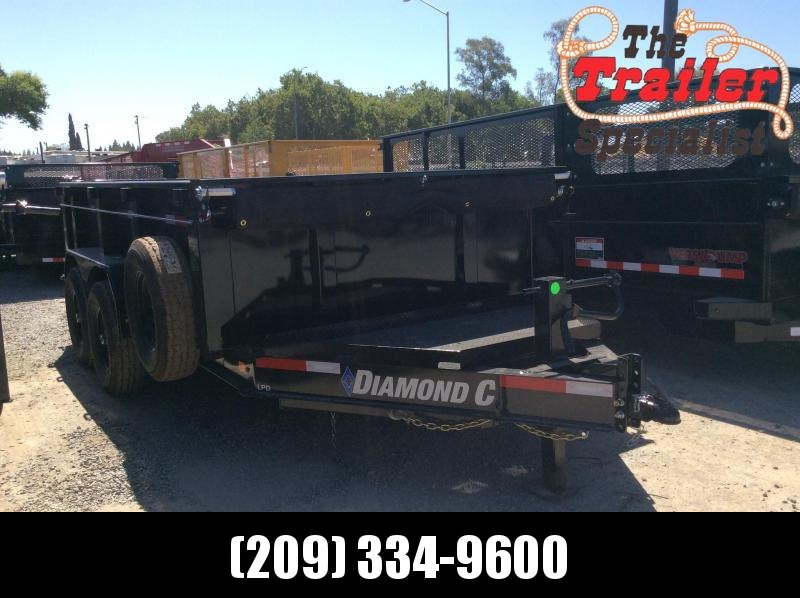 "NEW 2020 Diamond C Trailers Low Pro Dump LPD207L 12ft x 82"" Dump Trailer"