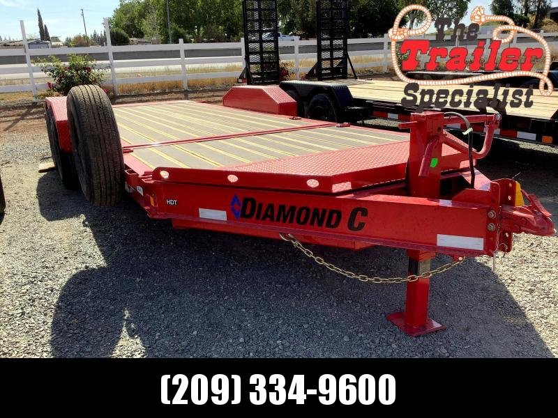 "NEW 2021 Diamond C Trailers 14900 GVWR HDT207L 20ft x 82"" Low Pro Tilt Equipment Trailer"