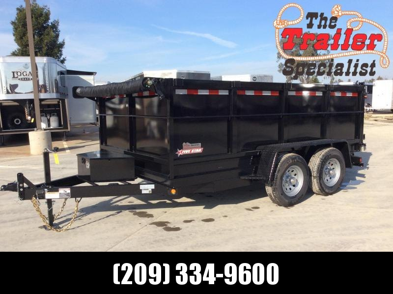 2021 Five Star DT280 Dump Trailer 7x12 10k GVW 3' Sides