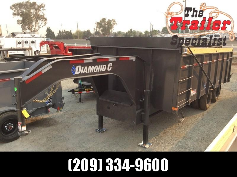 NEW 2021 Diamond C Trailers 8.5' x 20' WDT212 Dump Trailer