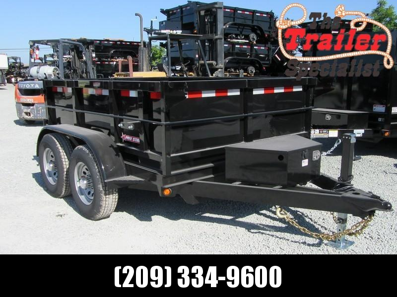 New 2021 Five Star DT287 6' x 8' 10K GVW Dump Trailer