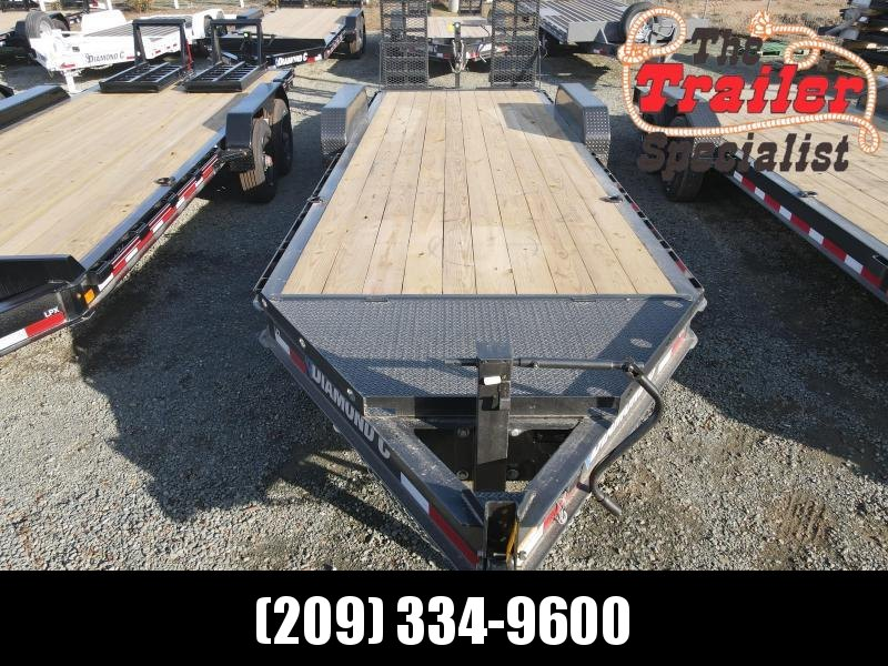 "NEW 2021 Diamond C Trailers HDT207-L 24' x 82"" 14900 GVWR Equipment Trailer"