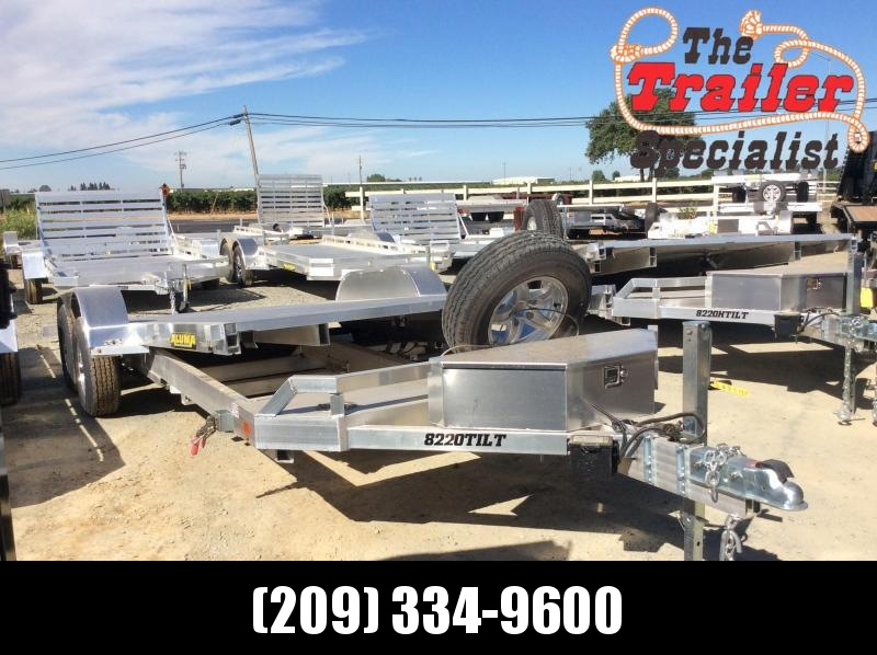 NEW 2021 Aluma 8220TILT-TA Equipment Trailer