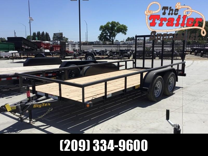 New 2021 Big Tex 60PI-16RG 6.5x16 6K GVW Utility Trailer