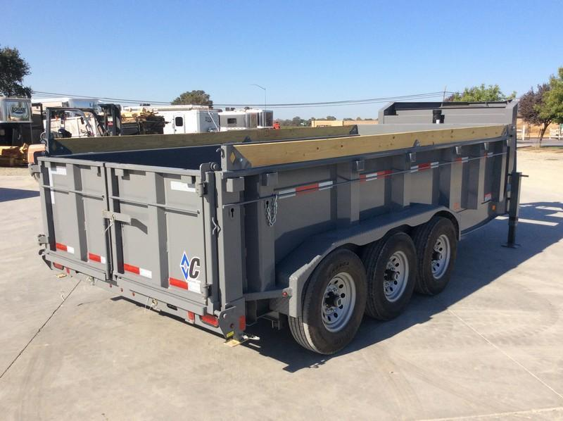 NEW 2020 Diamond C Trailers 7x16 24k GVWR GN LPT307 Dump Trailer