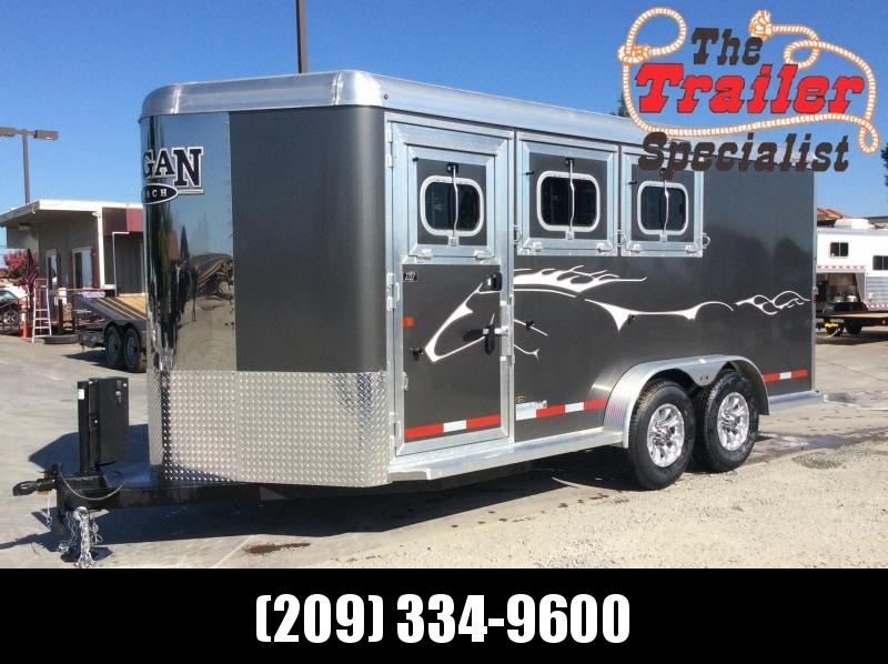 NEW 2020 Logan Coach 3 Horse Alum XT BP Horse Trailer