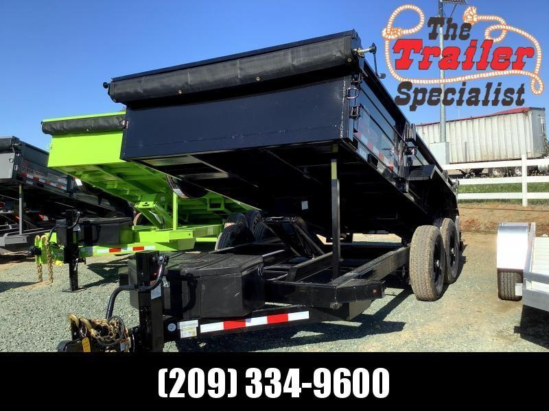 NEW 2021 Midsota HV-14 7' x 14' 15400 GVW Dump Trailer