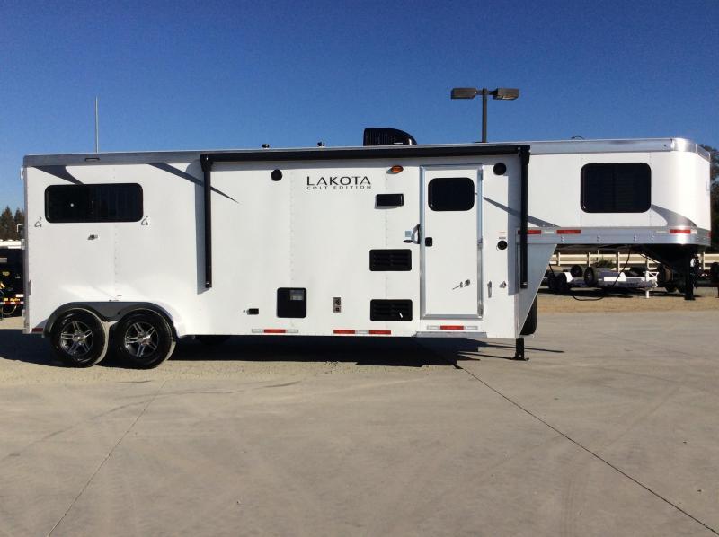 "New 2021 Lakota AC9 2H 6'9"" Wide Colt 9ft LQ Horse Trailer"