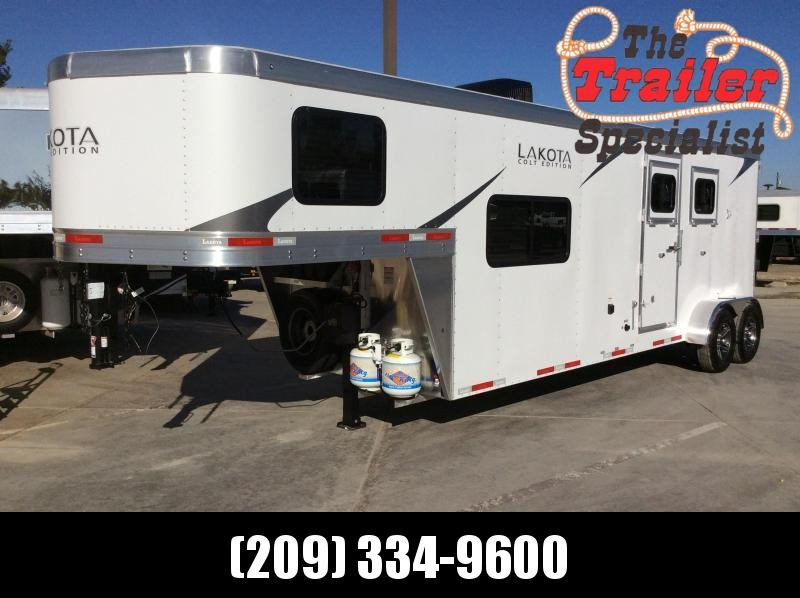 "New 2021 Lakota AC9 2H 6'9"" Wide Colt 9ft LQ Horse Trailer"