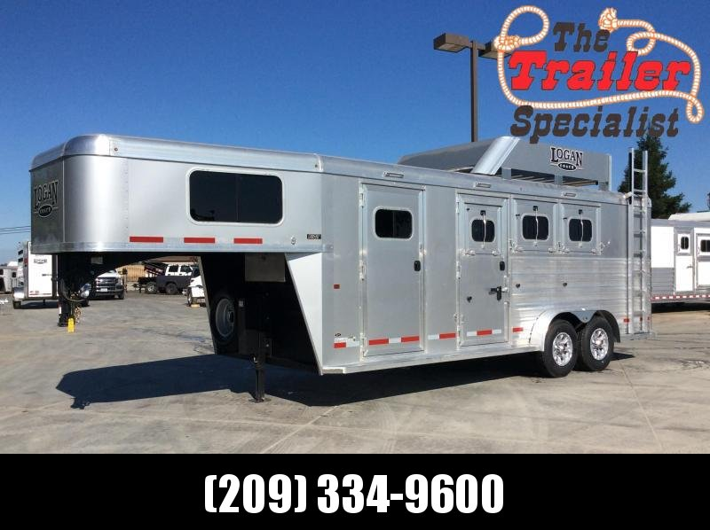 2020 Logan Coach 3H Riot GN Horse Trailer W/ Trainers Tack