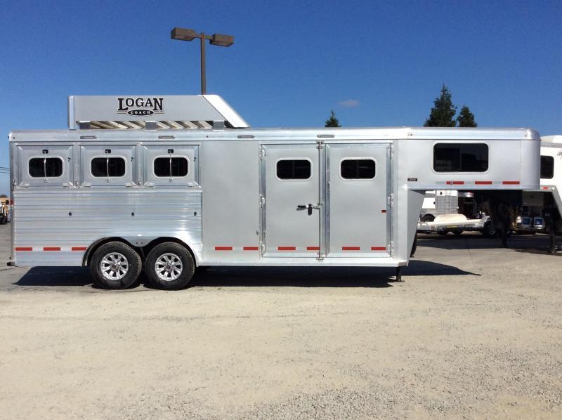 2020 Logan Coach 3H Riot GN Horse Trailer W/ Trainers Tack