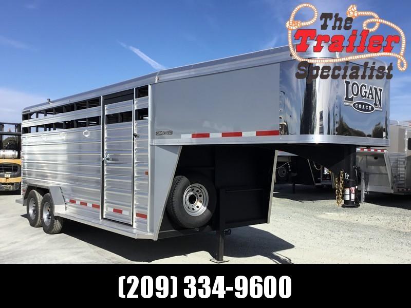 NEW 2019 Logan Coach 18 ft Stockman Livestock Trailer