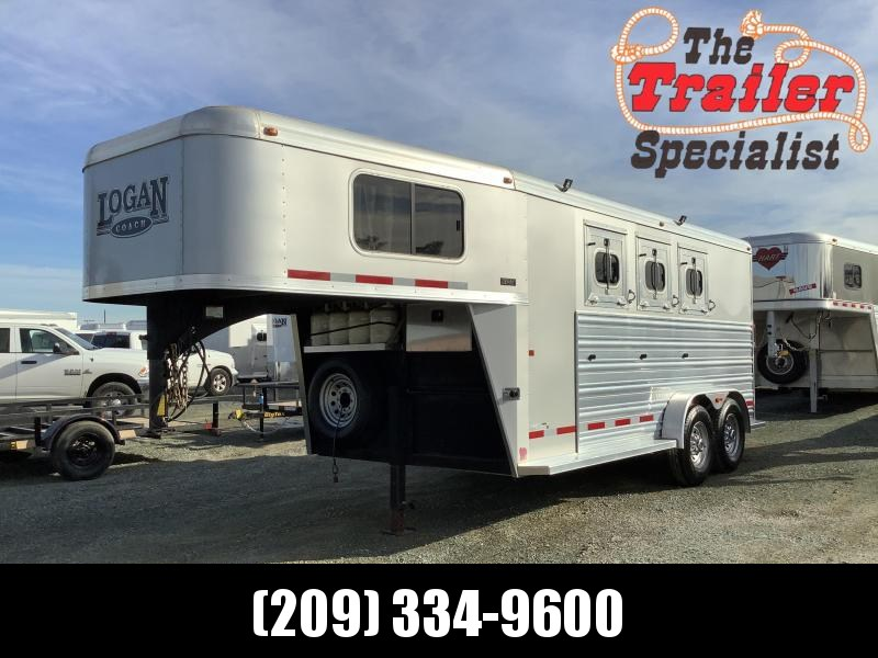 Pre-Owned 2016 Logan Coach 3H Riot GN Horse Trailer