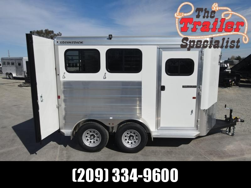 NEW 2022 Logan Coach 2H Bullseye Horse Trailer
