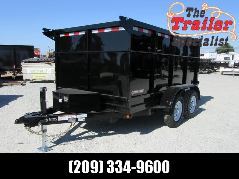 New 2021 Five Star DT257 6x10 7K GVW 4' Sides Dump Trailer